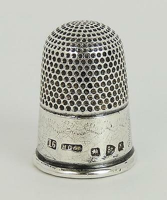 VICTORIAN STERLING SILVER THIMBLE CHESTER 1896 Size 16