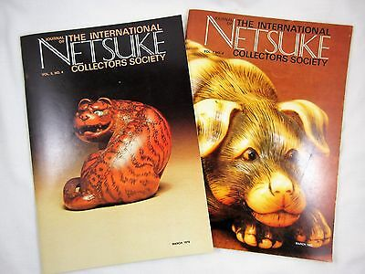 Journal of the International Netsuke Collectors Society Lot of 2 March 1978 1980
