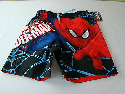 NEW NWT Boys Spiderman Swim Trunks - UPF 50+ - Size 7