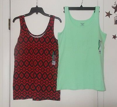 Women's/Junior's Size XL Faded Glory & No Boundaries Tank Tops Lot Of 2 NWT