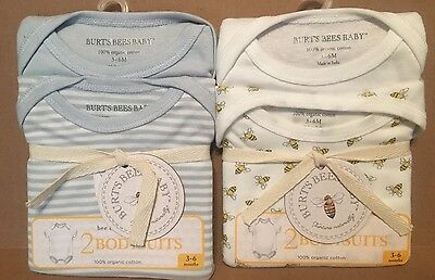 Burts Bees Baby Bodysuits one piece size 3-6 months New 2 packs