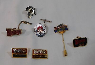 Lot Of Vintage Wendy's Pins ~ Most are Vintage