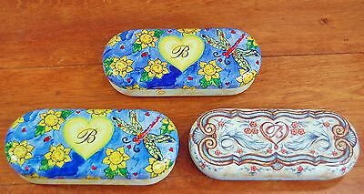 Brighton Collectibles Metal Tin Glasses Sunglasses Cases (cases only) Dragonfly