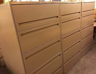 HON 700 Series 5-Drawer Lateral File W/Roll-Out & Posting Shelf--Pristine!