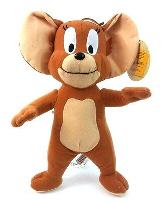 "TOM AND JERRY 13"" Stuffed Animal Plush Brown JERRY MOUSE Toy Factory GUC"