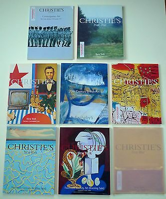 8 art auction catalogues Christie's Sotheby's 20th Century Post-War Contemporary