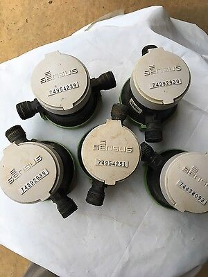 5 Sensus Lead Free Water Meters Us Gallon For 3/4 Service