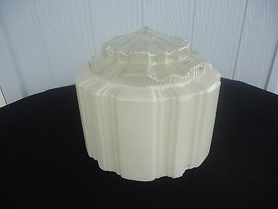 vintage art deco off white cream ceiling light lamp shade fitting skyscaper