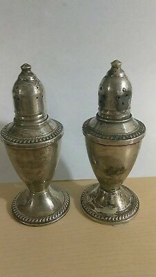 Vintage Duchin Creation Sterling Silver Weighted Glass Lined Salt Pepper Shakers