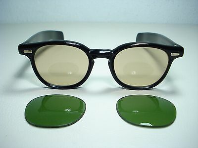 Vintage 1950's Titmus Sunglasses Persol 44mm Changeable Lens Tart Arnel Style