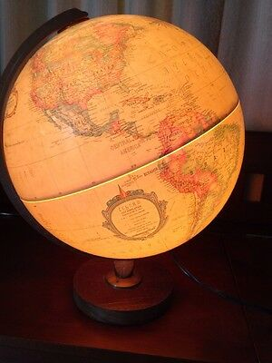 "Replogle 12""diameter Globe World Premier Series Lights Up. Vintage."