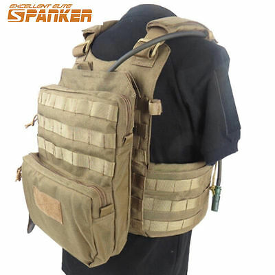 Tactical Molle Hydration Pack Tactical Vest Hiking Hunting Camping Backpack