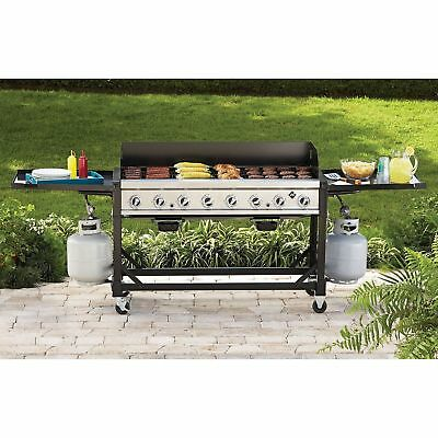 New Portable Bakers & Chefs Outdoor Commercial / Event 8-Burner Propane Gas Bbq