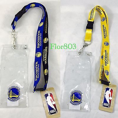 Golden State Warriors NBA Clip On Lanyard With Ticket Holder