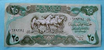 25 Dinars Bank Note from Iraq
