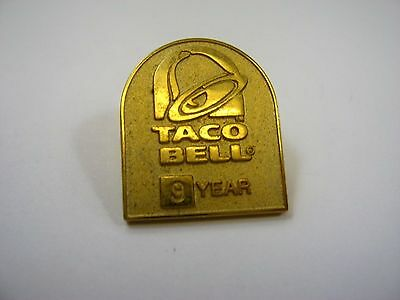 Vintage Collectible Pin: Taco Bell 9 Years Nice Quality