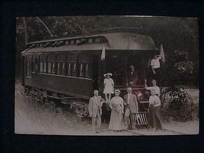 Real Photo Postcard Of A Family In A Electric Train