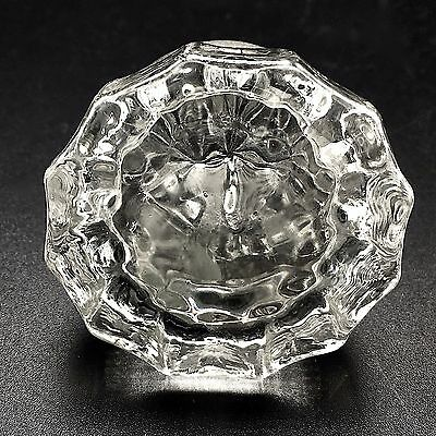Vintage Glass Crystal Door Knob 12 Points with Screw Brass No Chips Repurpose