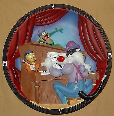 Rare 1999 Looney Tunes Sylvester Tweety Limited Edition Warner Brothers 3D Plate