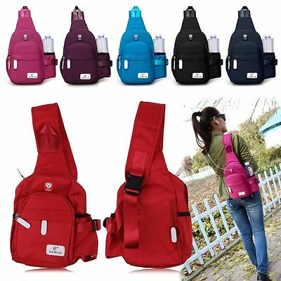 Unisex Nylon Travel Hiking Crossbody Backpack Shoulder Sling Chest Satchel Bag