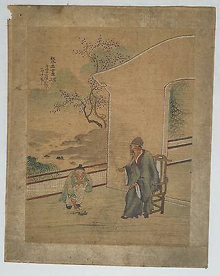 ANTIQUE CHINESE WOODBLOCK PRINT, SIGNED BY ARTiST