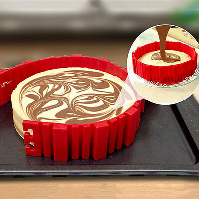 4pcs Food Grade Silicon Snake Cake Mold Mould Non Stick Cup Cake Baking Tool
