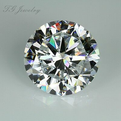 Colorless DE 1.5ct Round Cut VVS1 Moissanite Loose Stone Hearts and Arrow 7.5mm