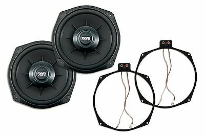 2x Earthquake Sound SWS-8X High Performance Shallow Sub + 1 PAIR Ring Adapters