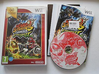 Mario Strikers Charged Football For Nintendo Wii Game Complete PAL , 2007