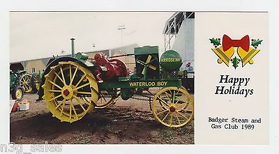 1989 89 Badger Steam & Engine Club Wisconsin Holiday Greeting Card Photograph
