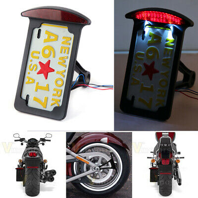 Side Mount License Plate Bracket Tail Light For Harley Sportster Motorcycle AT