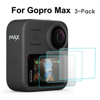 3 Packs Tempered Glass Screen Protector Sport Camera Film for GoPro Hero Max
