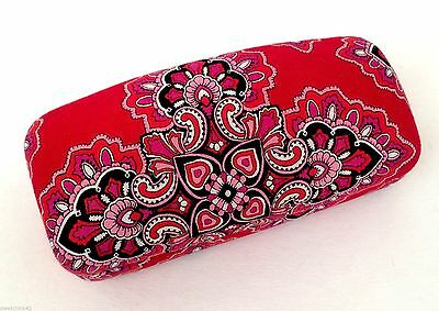 VERA BRADLEY Frankly Scarlet Hard Sunglasses Case LARGE Clamshell Glasses Holder