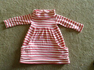 Baby Girls Long-sleeve Dress Winter Sprout Pink Size 0