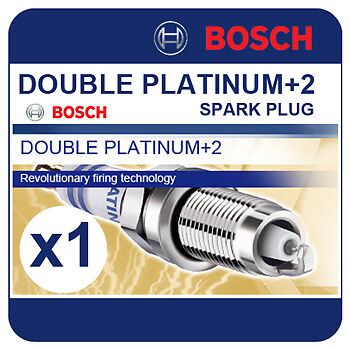 MERCEDES C200 KOMPRESSOR Estate 02-07 BOSCH Twin Platinum Spark Plug YR6NPP332