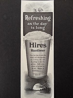 Antique 1903 Print Ad(D12)~Hires Rootbeer Drink Malvern, Pa.
