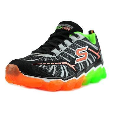 Boys Black / Lime Lace Up Memory Foam Turbo Shock Skechers Trainers