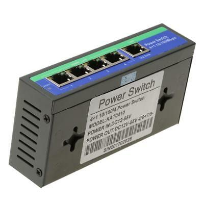 Metal 5Port PoE Switch 10/100mbps IEEE 802.3af/at Ethernet Network Switch