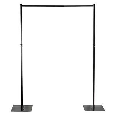 BLACK 5 x 8 ft Photo Backdrop Stand Kit Studio Stage Background Party Wedding