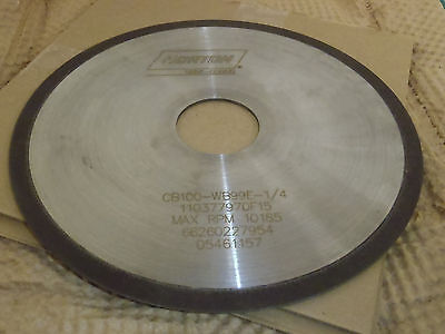 "Norton 66260227954 CBN Grinding Wheel, 1A1R, 6"" x .062"" x 1-1/4"", !70F!"