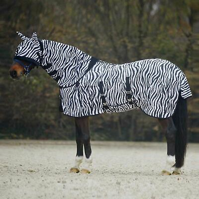 Horse Fixed Combo Neck Field Breathable Summer Sheet Blanket Fly Rug Free Mask