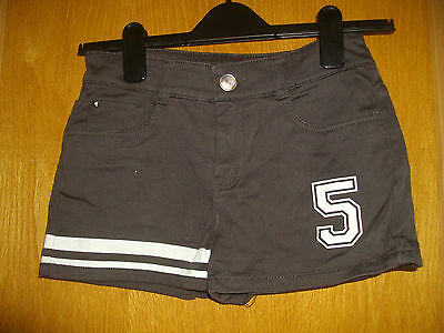 Denim Co ~ Girls Short Shorts ~ Charcoal Canvas Style ~ Age 12-13 Years