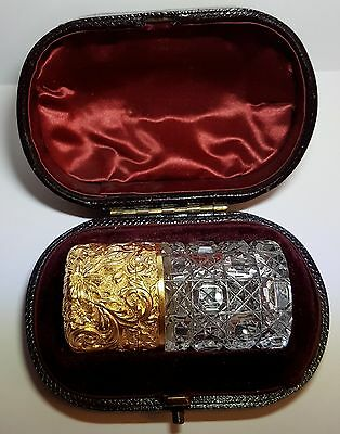 Samson and Mordan silver gilt scent bottle, Boxed, Fully Hallmarked 1889