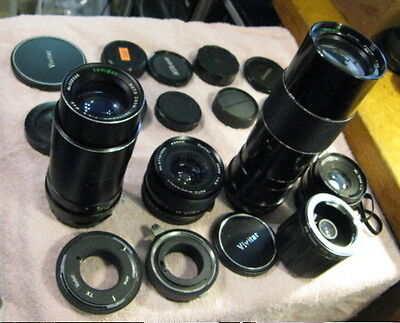 Wholesale Lot of Older 35mm Lenses and Caps