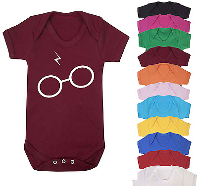 Scar and Glasses Harry Potter Inspired Baby Vest Onesie Babygrow Baby Shower