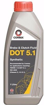 Comma DOT 5.1 Synthetic brake fluid for high performance vehicles 1L BF51L