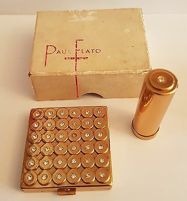 Paul Flato, Compact and Lipstick, Original box, design Classic