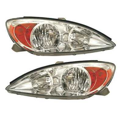New Pair of Left and Right Headlight Assemblies fits 2002-2004 Toyota Camry