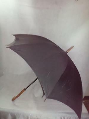 *vintage/antique Gents Kendall Umbrella- Whangee Bamboo- 9Ct Gold Plate Collar*