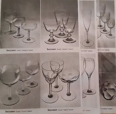 Vintage 1969 Baccarat crystal Prices, pricing guide-pages for 12  patterns, rare